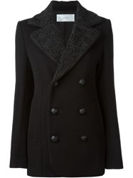 Julien David Textured Collar Peacoat
