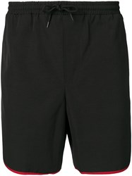 Gucci Contrasting Trim Swim Shorts Black