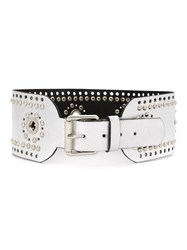 Spacenk Nk Studded Leather Belt Grey