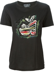 Salvatore Ferragamo Embroidered Sandal T Shirt