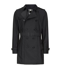 Burberry London The Kensington Mid Length Heritage Trench Coat Male Silver