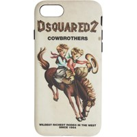 Dsquared2 Multicolor 'Cowbrothers' Iphone 8 Case