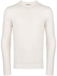 Nuur Inside Out Knit Sweater White