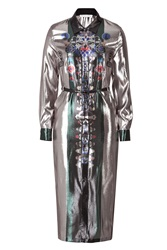 Mary Katrantzou Lame Shirtdress Multicolor