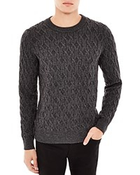 Sandro Cable Knit Sweater Gris Chine
