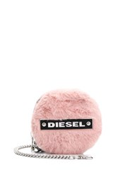 Diesel Logo Patch Coin Purse Pink