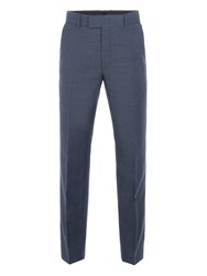 Pierre Cardin Men's Stephen Blue Pow Check Trousers Blue