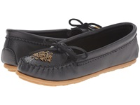 Minnetonka Deerskin Beaded Moc Black Deerskin Women's Moccasin Shoes