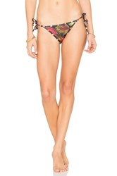 Salinas Breeze Contrast Side Tie Bikini Bottom Red
