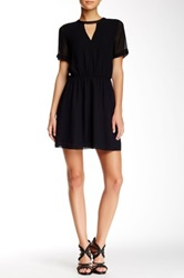 Bcbgeneration Short Sleeve Chiffon Dress Black