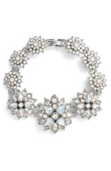 Marchesa Crystal Bracelet Rhodium White Multi