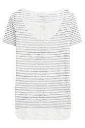 Majestic Striped Linen T Shirt Gr. 2