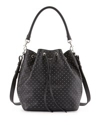 Studded Medium Bucket Shoulder Bag Black Women's Saint Laurent