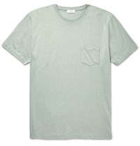 Sunspel Slub Cotton Jersey T Shirt Dark Green