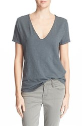 Women's Zadig And Voltaire Skull Graphic V Neck Tee