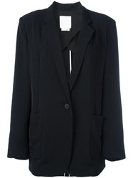 Dkny Oversized Blazer Black