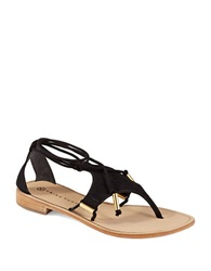 Trina Turk Bayley Thong Sandals Black