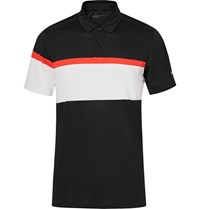 Nike Golf Mobility Striped Dri Fit Golf Polo Shirt Black