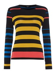Therapy Nori Sheer Multi Stripe Jumper Black Multi