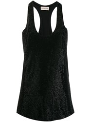 Alexandre Vauthier Perforated Tank Top Black