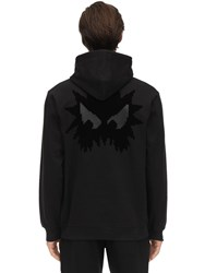 Mcq By Alexander Mcqueen Monster Print Cotton Sweatshirt Hoodie Black