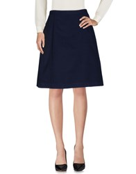 Aspesi Knee Length Skirts Dark Blue
