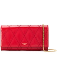 Givenchy Quilted Chain Wallet Red