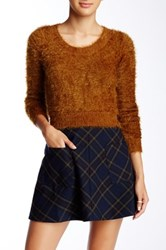 American Apparel Fuzzy Cropped Sweater Beige