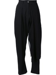 Isabel Benenato Cropped Trousers Black