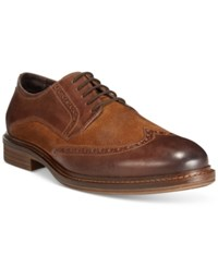 Alfani Zack Mixed Material Wingtip Derby Oxfords Only At Macy's Men's Shoes Tan