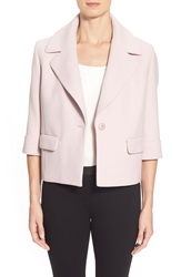 Classiques Entier Notch Collar Short Jacket Regular And Petite Pink Hush