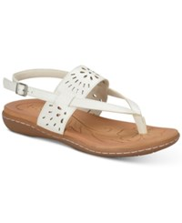 B.O.C. Clearwater Flat Sandals Women's Shoes White