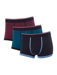 Ted Baker 3Pk Plain Contrast Piping Trunk Multi Coloured Multi Coloured
