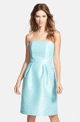 Women's Alfred Sung Strapless Dupioni Dress Seaside