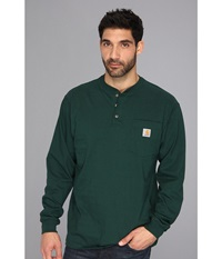 Carhartt Workwear Pocket L S Henley Hunter Green Men's Long Sleeve Pullover