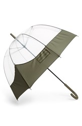 Hunter 'Moustache' Bubble Umbrella Green Swamp Green
