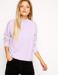 Asos Structured Jumper With Turtle Neck Lilac