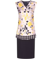Salvatore Ferragamo Printed Silk Dress Black