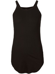 Lost And Found Curved Hem Tank Top Black