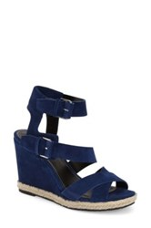 Marc Fisher Karla Wedge Sandal Blue