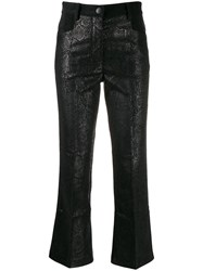 8Pm Snakeskin Effect Cropped Trousers 60