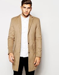 Native Youth Wool Overcoat Camel