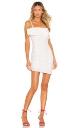 Kendall Kylie Poplin Draped Dress In White.