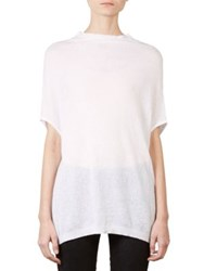Rick Owens Crater Knit Cotton And Cashmere Short Sleeve Sweater