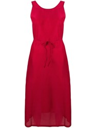 Sara Lanzi A Line Dress Red