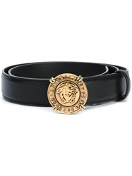 Versace Vanitas Buckle Belt Black