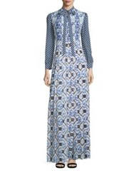 Mary Katrantzou Duritz Maxi Dress Toile De Jouy Blue