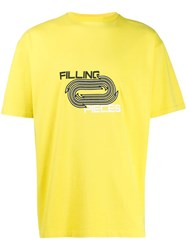 Filling Pieces Crew Neck T Shirt Yellow