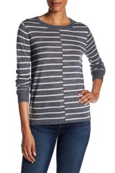 Paige Allie Striped Wool Blend Sweater Gray