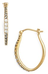 Women's Judith Jack Marcasite And Swarovski Crystal Hoop Earrings Gold